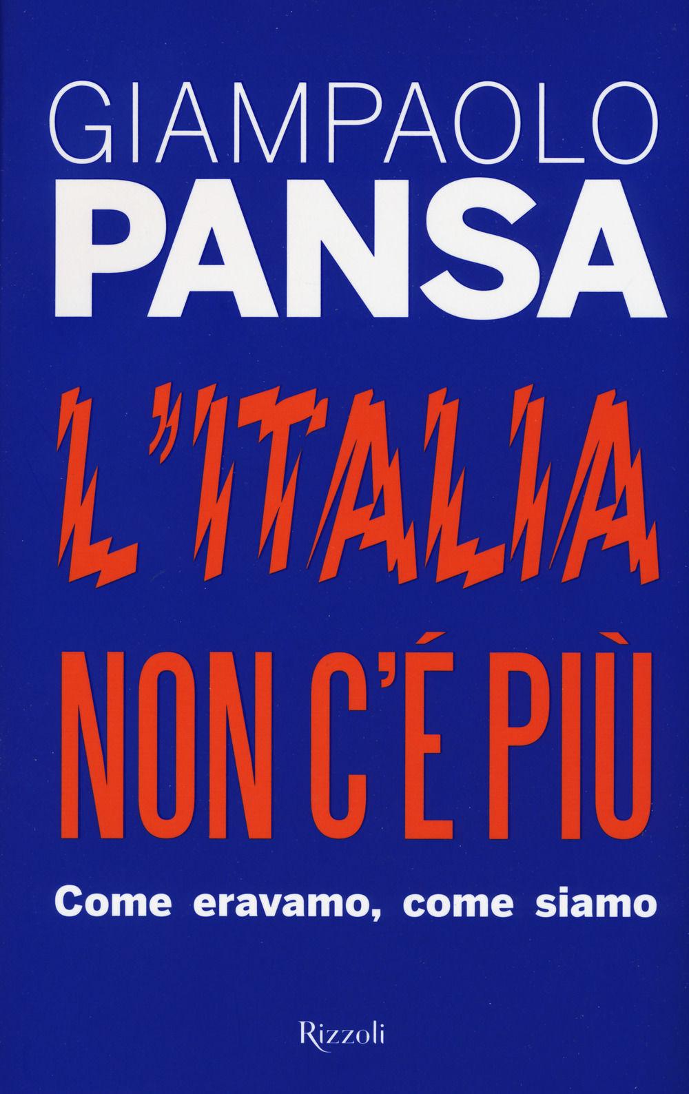 L'Italia non c'è più Book Cover